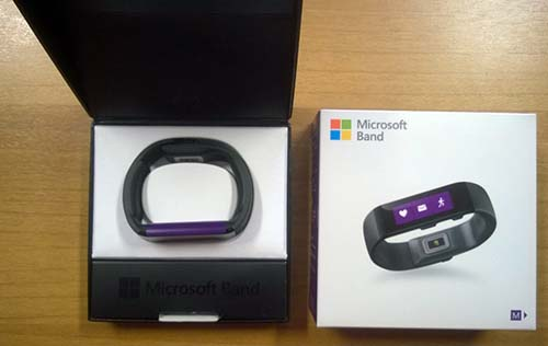 microsoft band unboxing