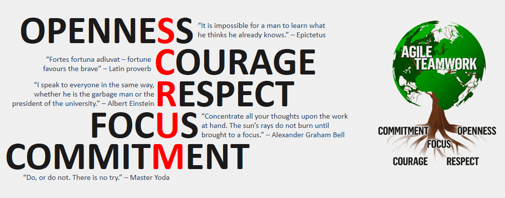 scrum 5 values