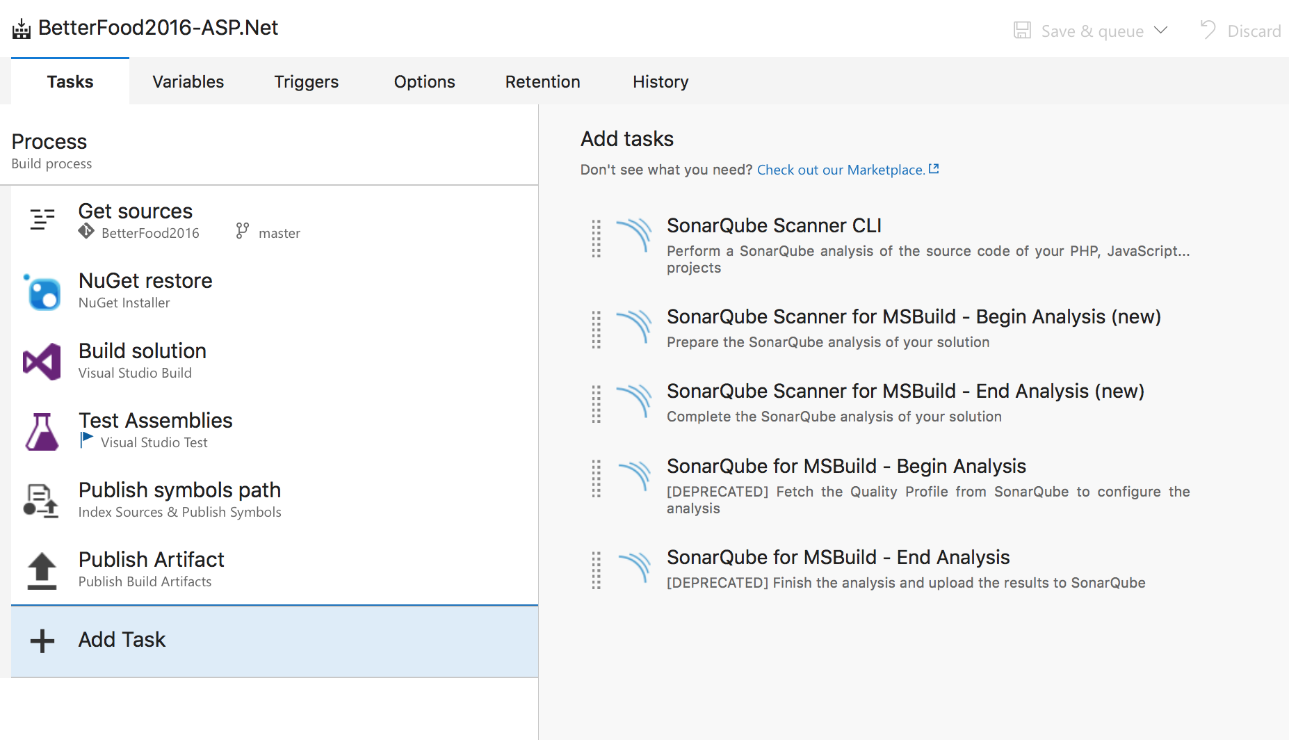 extension sonarqube build integration