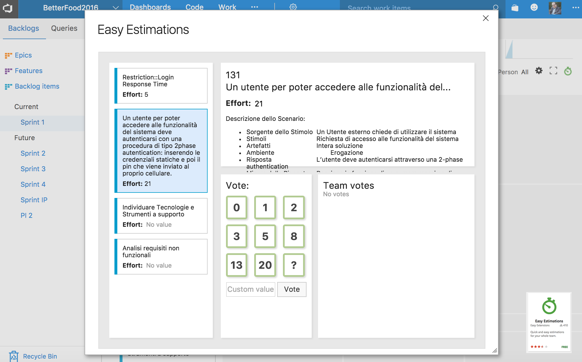 extention easy estimation