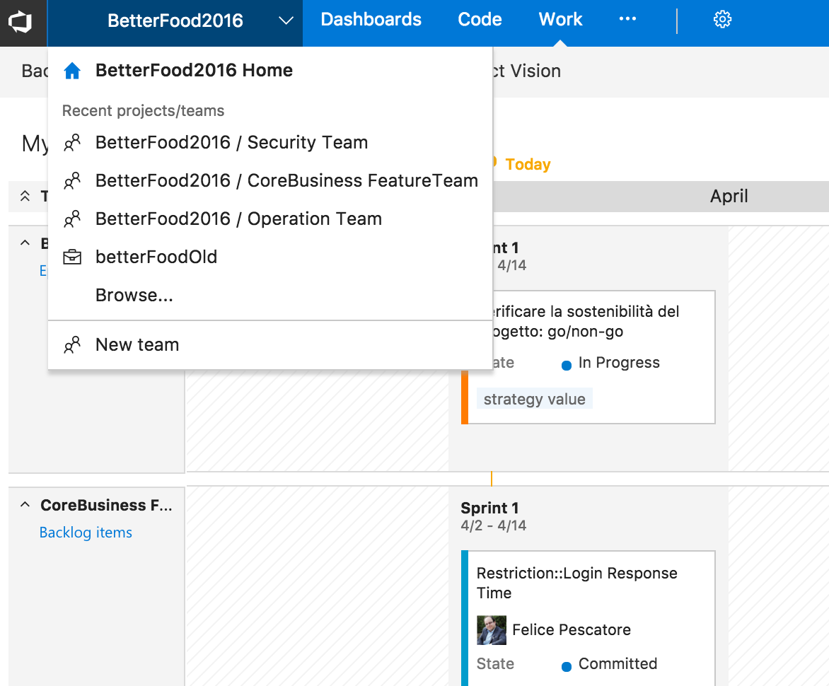 vsts feature team